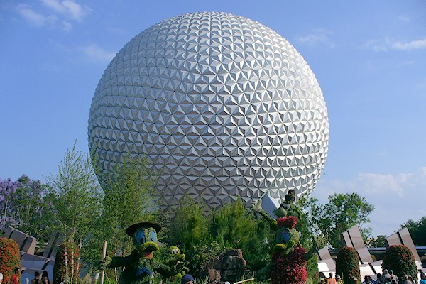 Spaceship Earth geosphere at EPCOT