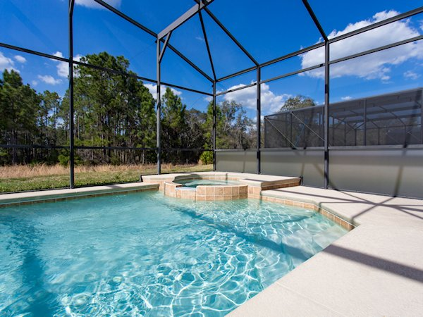 Private Pool and Spa-privacy panels; conservation view