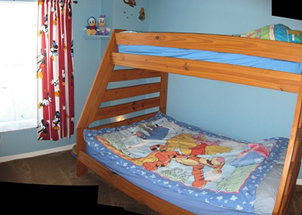 disney theme bedroom triple bunk beds
