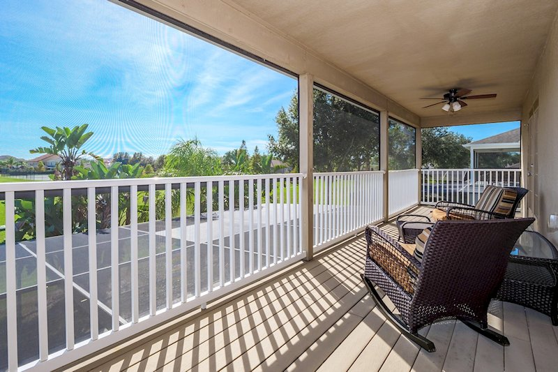 South facing private screened in balcony