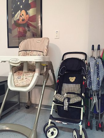High chair and push chairs available at the villa