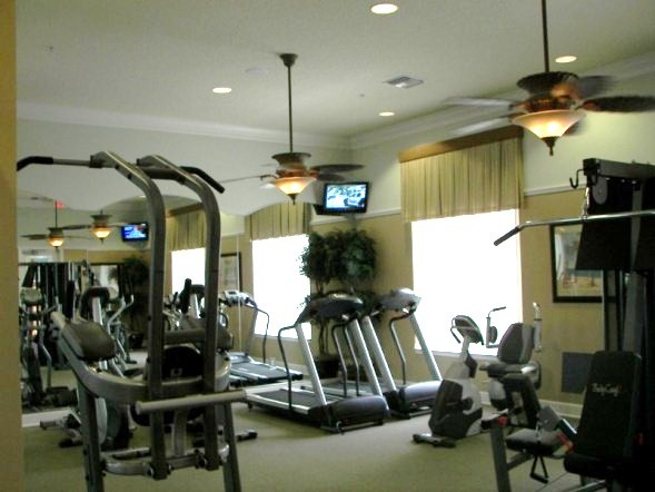 Work out at the gym