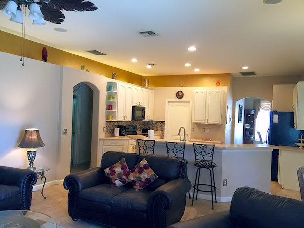 Large open plan Kitchen and family area