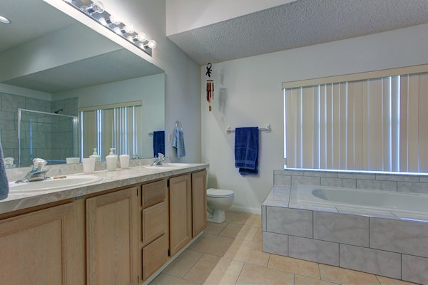 Master ensuite - one of the two bathrooms