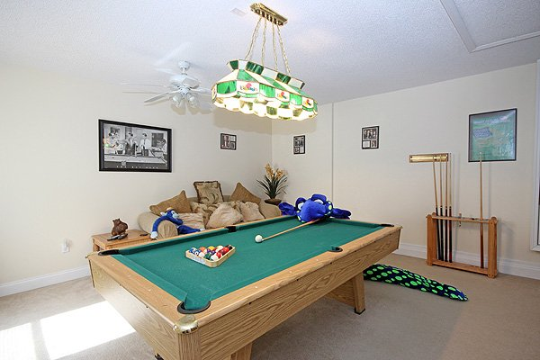 Games room has seating for spectators!